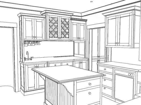Hc drawings for 3d drawing kitchen